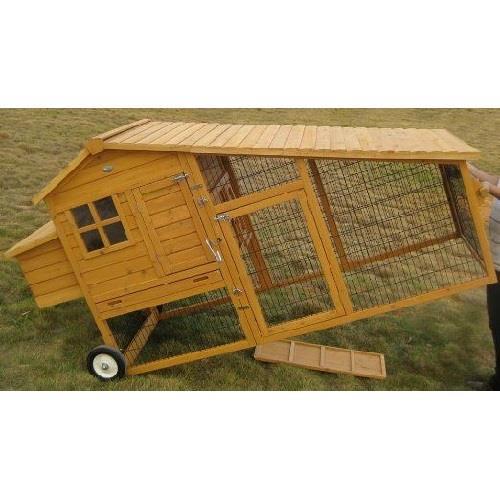 Pollai mobili in legno linea completa di pollai su ruote for Casetta prefabbricata su ruote