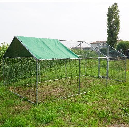 Recinto da giardino per cani 6x3 - Recinto mobile per cani ...