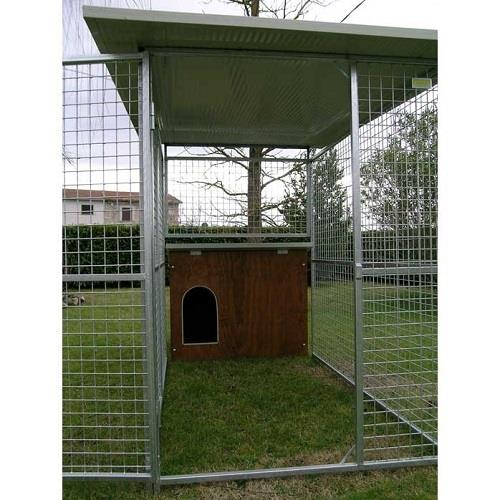 Box per cani modello labrador con recinto coperto for Cancelletti per cani da esterno