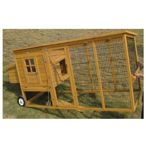Pollaio mobile per galline sebrightxxl ideale per 5 7 polli for Casetta prefabbricata su ruote