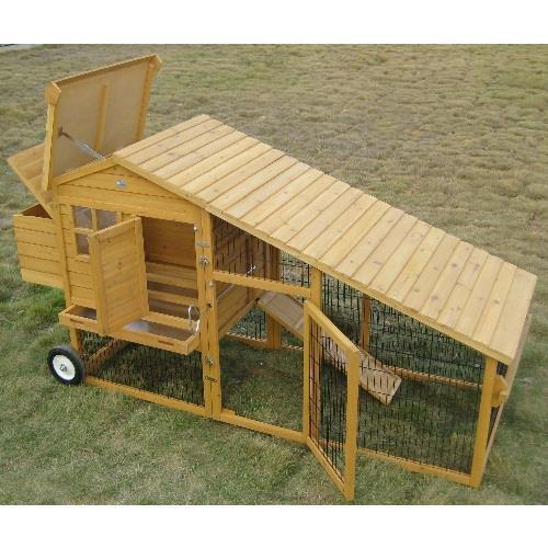 Pollaio mobile per galline amrock xl per 5 7 polli - Mobili su ruote ...