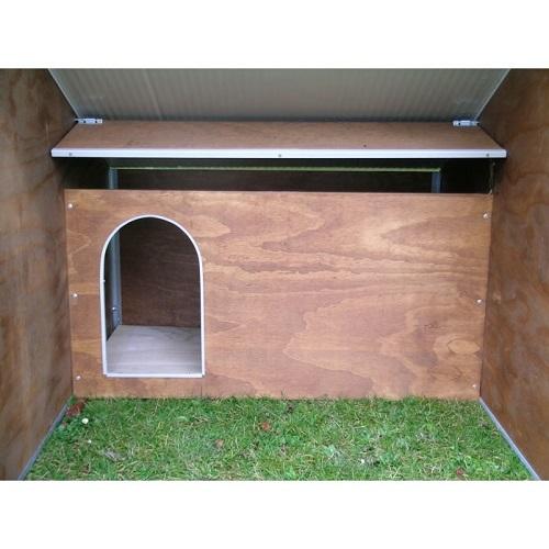 Box per cani con recinto e cuccia interna